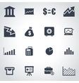 black economic icon set vector image vector image