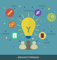 Brainstorming ideas flat concept vector image