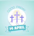 calendar good friday vector image vector image