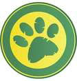 Cartoon paw print vector image