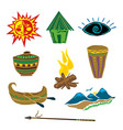 carving ancient egyptian nature object art vector image