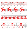 Christmas Traditional Scandinavian Pixel Borders vector image