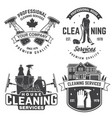 cleaning company badge emblem vector image vector image