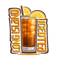 cocktail long island iced tea vector image vector image