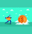 coin money with businessman vector image