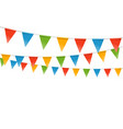 Color flags garland template for a text