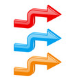 colored 3d arrows right turn vector image