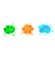 colored fluid elements for minimal banner logo vector image vector image