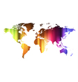 Concept of global business with world map vector image