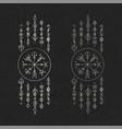 dark runic symbols dreamer set vector image vector image