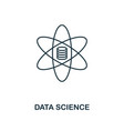 data science outline icon thin line style from vector image vector image