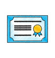 diploma graduation isolated icon vector image vector image