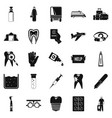 doctor icons set simple style vector image