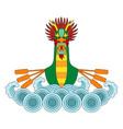 dragon boat print vector image vector image