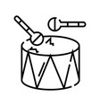 drums line icon concept sign outline vector image