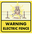 Electric fence sign vector image vector image