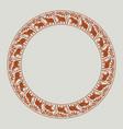 elephants circle ornament-02 vector image vector image