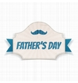 Fathers Day festive Card with greeting Ribbon vector image