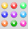 Favorite Star icon sign symbol on nine wavy vector image vector image