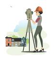 Female engineer vector image