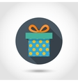 Gift box icon with shadow vector image vector image
