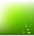 Green Background With Water Drops vector image
