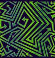 green geometric arrow seamless pattern vector image vector image