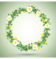 green round flowers vector image vector image