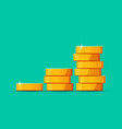 growing stack golden dollar coins isolated on vector image vector image