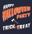 halloween party invitation or greeting card web vector image