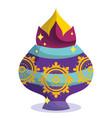 happy diwali festival decorative ornament mandala vector image vector image