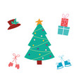 holiday decoration element set - decorated cartoon vector image vector image