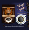 instant coffee ads realistic vector image vector image