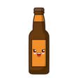 kawaii bottle icon vector image