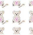 Koala with heart and key seamless pattern vector image vector image