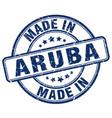made in aruba vector image vector image