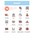 money - line design icons set vector image vector image