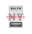 new york city brooklyn t-shirt graphics vector image
