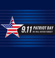 patriot day usa star banner vector image vector image