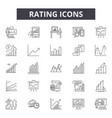rating line icons signs set linear vector image vector image
