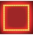 Retro shining frame Light bulb vector image vector image