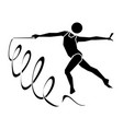 rhythmic gymnastics sign icon vector image vector image