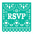 rsvp respond please papel picado card vector image