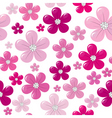seamless flowers vector image vector image