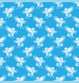 seamless pattern with white pegasus vector image vector image