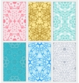 set decorative patterns vector image