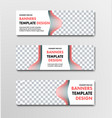 set horizontal white web banners with place vector image vector image