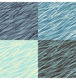 Set of abstract linear grunge seamless patterns vector image