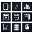 Set of Black Round Business Icons vector image vector image