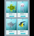 Set of sea animal templates for web design 1 vector image